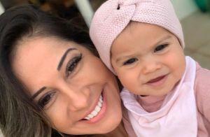 Sophia, filha de Mayra Cardi e Arthur Aguiar, exibe 1º dentinho em foto. Veja!