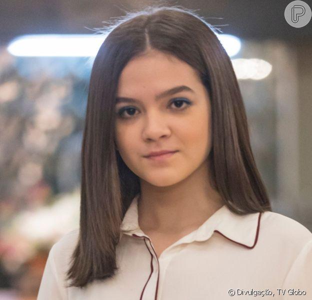 Nos próximos capítulos da novela 'A Dona do Pedaço', Cássia (Mel Maia) tem encontro com pedófilo em hotel e ganha lingerie de presente