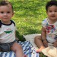 Rosângela Jacquin encantou os seguidores ao publicar foto dos filhos gêmeos na web nesta sexta-feira, 20 de setembro de 2019