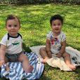 Crescimento de Antoine e Elise, filhos de Rosângela Jacquin, surpreendeu os internautas