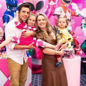 Filha de Rafael Cardoso e Mariana Bridi ganha festa com tema de Power Rangers