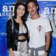 Rayssa Bratillieri e namorado,André Luiz Frambach, foram ao cinema assistir pré-estreia de 'Amor Assombrado'