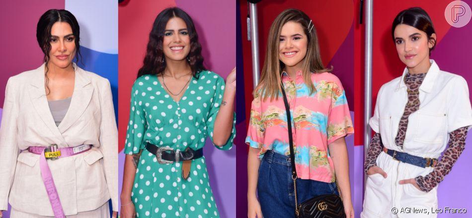 Cleo, Antonia Morais, Maisa Silva, Manu Gavassi e mais famosas ostentam estilo em desfile de moda