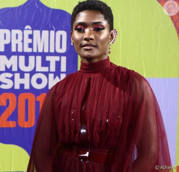 Erika Januza usa look inspirado em Rihanna no Prêmio Multishow 2019 nesta terça-feira, dia 29 de outubro de 2019