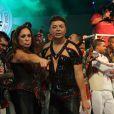 Susana Vieira dança funk ao lado de David Brazil durante show de Valesca Popozuda após ser coroada rainha de bateria da Grande Rio