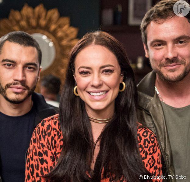 Vivi (Paolla Oliveira) revela plano de fugir com Chiclete (Sergio Guizé) na frente de Berta (Ana Lúcia Torres na novela 'A Dona do Pedaço'