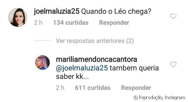 Marília Mendonça responde a seguidora em sua rede social