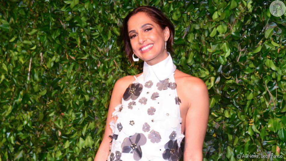 Camila Pitanga foi mestre de cerimônia do leilão beneficente Brazil Foundation 2019