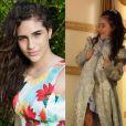 Lívian Aragão mostra que cresceu e não é mais a menina de 7 anos que atuava nos filmes do pai, Renato Aragão (Montagem com fotos de 2013 e 2008)