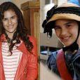 Lívian posa no lançamento de 'Flor do Caribe' e em imagem promocional de 'O Guerreiro Didi e a Ninja Lili'. Nas imagens ela tem 13 e 9 anos, respectivamente