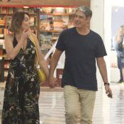 William Bonner e Natasha Dantas curtem cinema e deixam sessão de mãos dadas