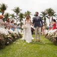 Biah Rodrigues usou um vestido exclusivo Kadu Fonseca Ateliê em casamento com Sorocaba