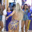 Lexa arrasou na festa de 88 anos da Unidos da Tijuca na quadra da agremiação neste sábado, 4 de janeiro de 2020