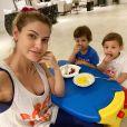 Mãe de Samuel e Gabriel, Andressa Suita explica o motivo de não abrir mão dos treinos: '32 anos dá uma pesadinha'