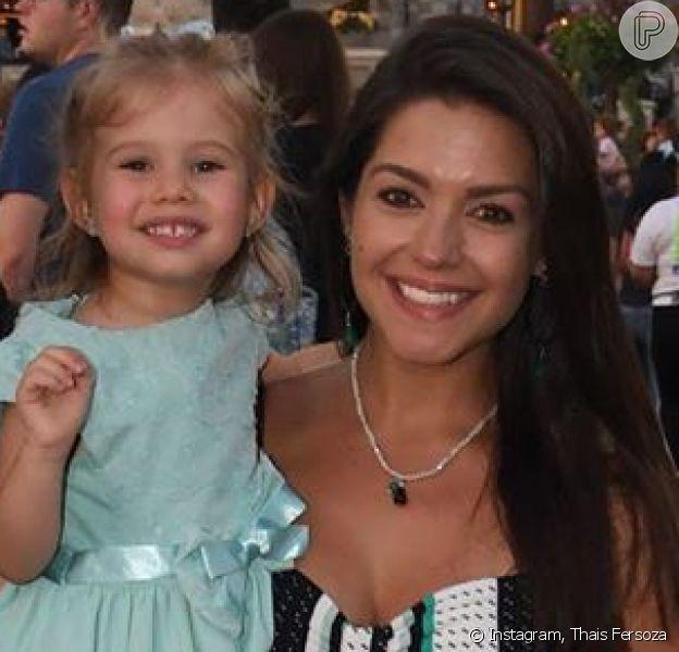 Thais Fersoza não filma a filha, Melinda, após pedido da menina: 'Personalidade'