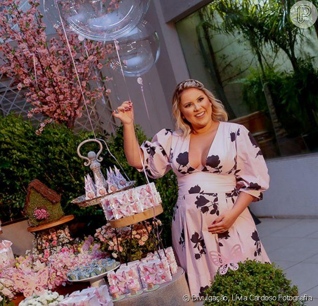 Mulher de Zé Neto, Natália Toscano realizou chá de bebê em São José do Rio Preto (SP) na segunda-feira, 3 de fevereiro de 2020