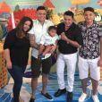 Felipe Araújo reuniu a família em festa de aniversário do filho, Miguel