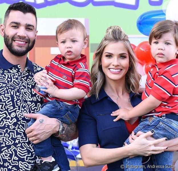 Filhos de Gusttavo Lima e Andressa Suita roubam a cena em passeio de avião nesta quarta-feira, dia 12 de fevereiro de 2020
