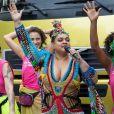 Preta Gil animou multidão no Centro do Rio de Janeiro neste domingo, 16 de fevereiro de 2020