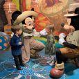 Thais Fersoza encantou os seguidores com fotos dos filhos conversando com personagens da Disney