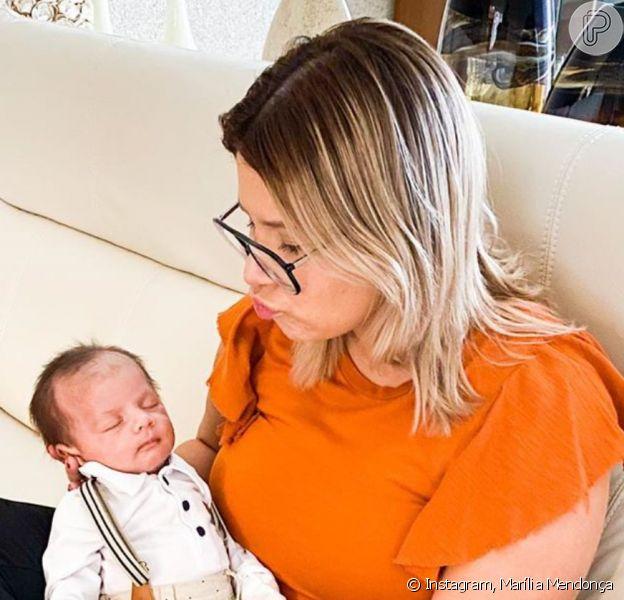 Marília Mendonça deu à luz Léo, fruto da relação com Murilo Huff, no dia 16 de dezembro de 2019