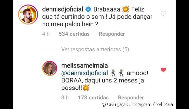 Mel Maia recebe convite de Dennis DJ em vídeo