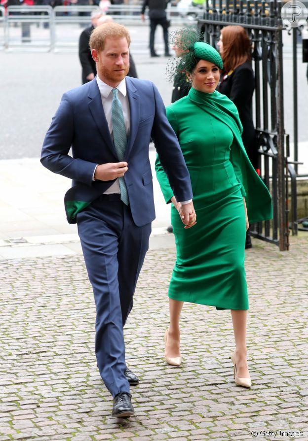 Meghan Markle e o marido, Príncipe Harry, participaram pela última vez de um evento da realeza como membros seniores