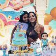 Anitta se diverte em aniversário da sobrinha, Letícia, nesta sexta-feira, dia 13 de março de 2020