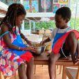 Giovanna Ewbank e Bruno Gagliasso fazem atividades com os filhos na quarentena