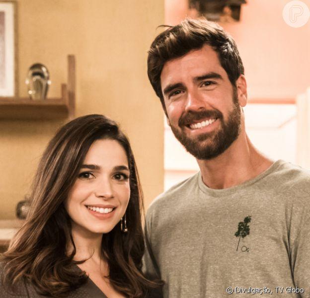 Novela 'Salve-se Quem Puder': Bruno (Marcos Pitombo) tem séria briga com Micaela (Sabrina Petraglia): 'Me achando um idiota total?'