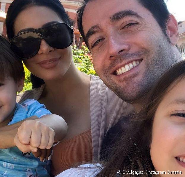 Simaria está curtindo a quarentena em família
