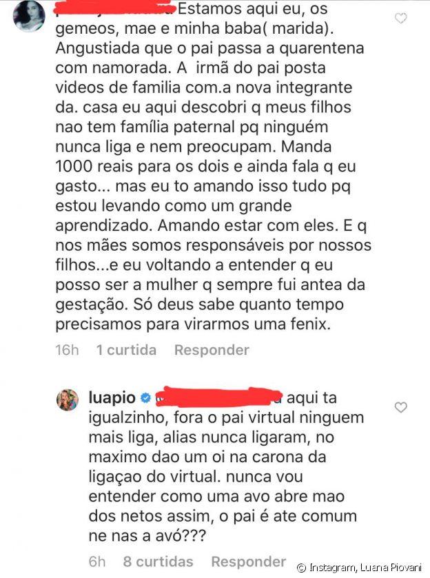 Luana Piovani critica Pedro Scooby na web