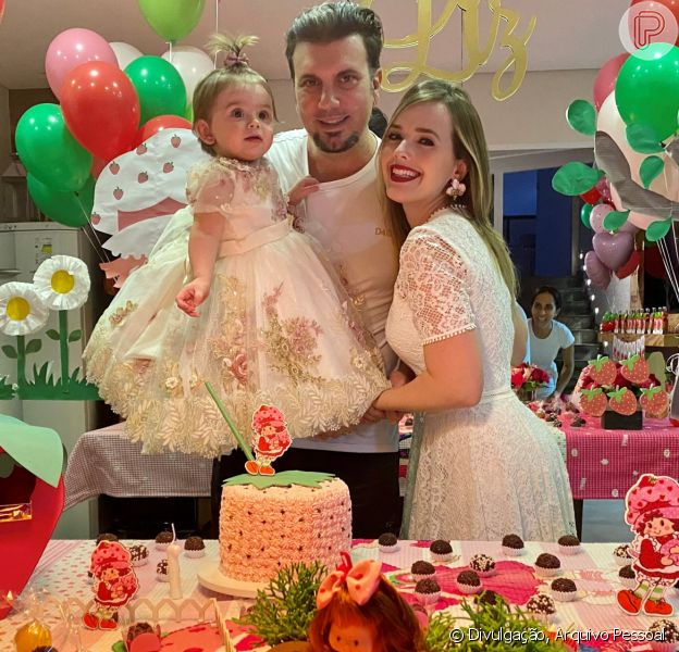 Thaeme Mariôto comemorou aniversário de 1 ano da filha, Liz, nesta segunda-feira, 20 de abril de 2020