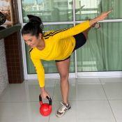 Mileide Mihaile mantém treino e dieta na quarentena: 'Valorizando mais a saúde'