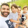 Andressa Suita repreendeu Gusttavo Lima pela travessura