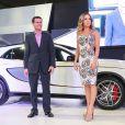 A cantora Claudia Leitte mostrou a boa forma na apresentação do carro Gla 45 AMG da montadora Mercedes-Benz