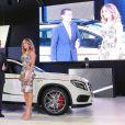 Claudia Leitte participou da apresentação do novo carro da Mercedes-Benz, em São Paulo