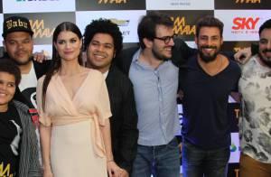 Cauã Reymond e Alinne Moraes prestigiam pré-estreia do filme 'Tim Maia' no Rio