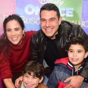 Wanessa Camargo desce em tobogã com filhos em festa intimista do caçula. Vídeo!