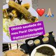 Joelma serve cardápio aos convidados com comida típica do Pará e japonesa