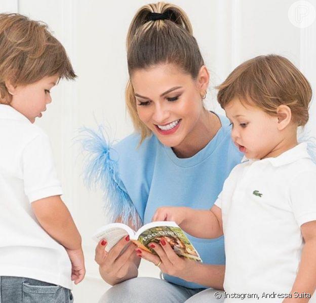Andressa Suita citou dificuldades de educar os filhos