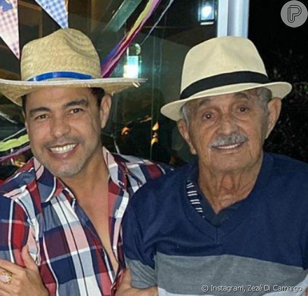 Pai de Zezé Di Camargo, Francisco chamou atenção pelo semblante saudável em foto com o filho mais velho: 'Maravilha'