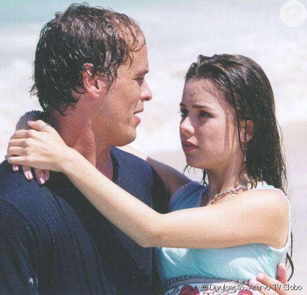 Na novela 'Estrela-Guia', Sandy viveu a adolesce Cristal e par romântico deTony, papel de Guilherme Fontes