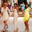 Naya Rivera se apresenta ao lado de outras atrizes no episódio 'Wedding' do 'Glee', que foi ao ar em fevereiro de 2014, na FOX