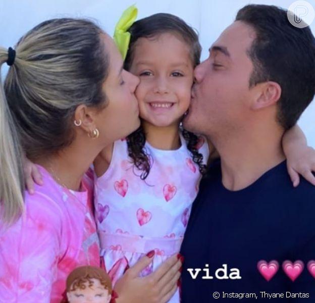 Wesley Safadão e Thyane Dantas fizeram festa surpresa para filha nesta terça-feira, 14 de julho de 2020