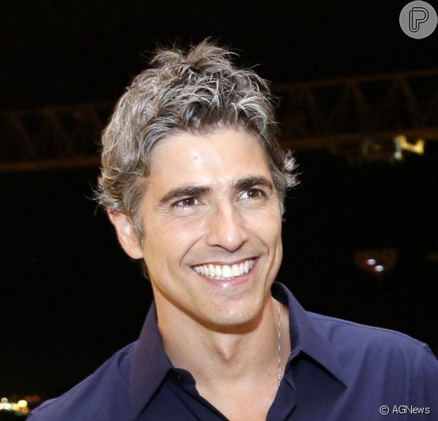 Reynaldo Gianecchini surgiu de cabelo branco em foto no instagram