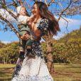 Sabrina Sato adora compartilhar momentos fofos com Zoe na web