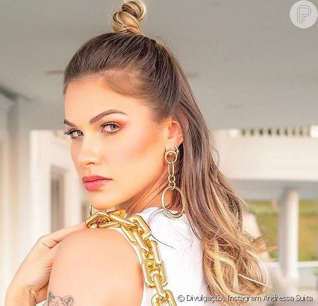 Andressa Suita caprichou no look para curtir o domingo, 26 de julho de 2020, em família