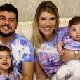 Cristiano, dupla de Zé Neto, combina look tie dye com a família