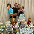 Cristiano e Paula Vaccari são pais de Pietra, de 3 anos, e Cristiano, de 5 meses